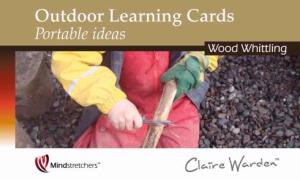 Outdoor Learning Cards Portable Ideas -  Wood Whittling